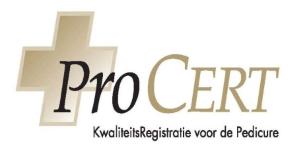 Procert - kwaliteitsregistratie voor de pedicure